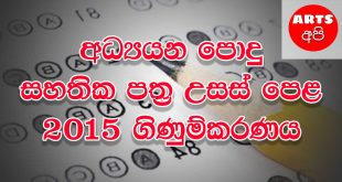 Advanced Level Accounting 2015 Paper