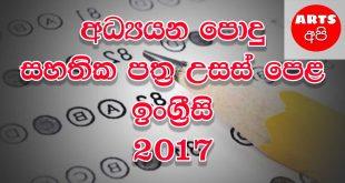 Advanced Level English 2017 Paper